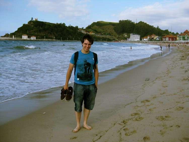 En la playa (Ribadesella)