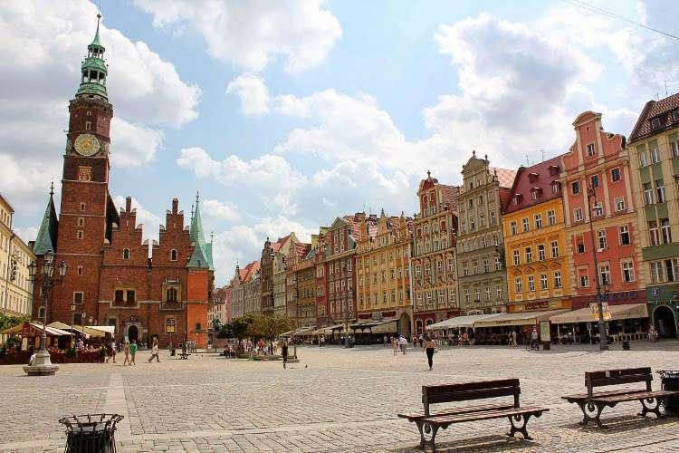 Ayuntamiento y  Plaza del Mercado (Wroclaw)