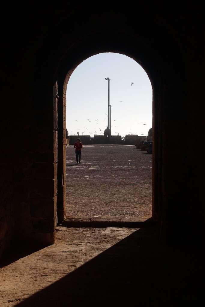 Una puerta de la fortaleza Skala du Port
