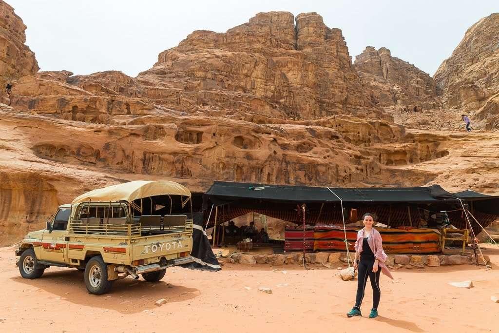 Puesto de te en Wadi Rum Jordania