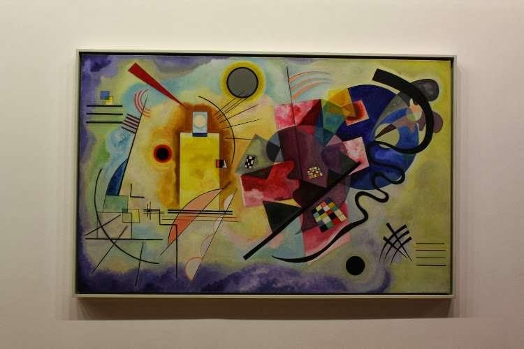 """Rojo, amarillo y azul"" Wassily Kandinsky (Centro Georges Pompidou)"