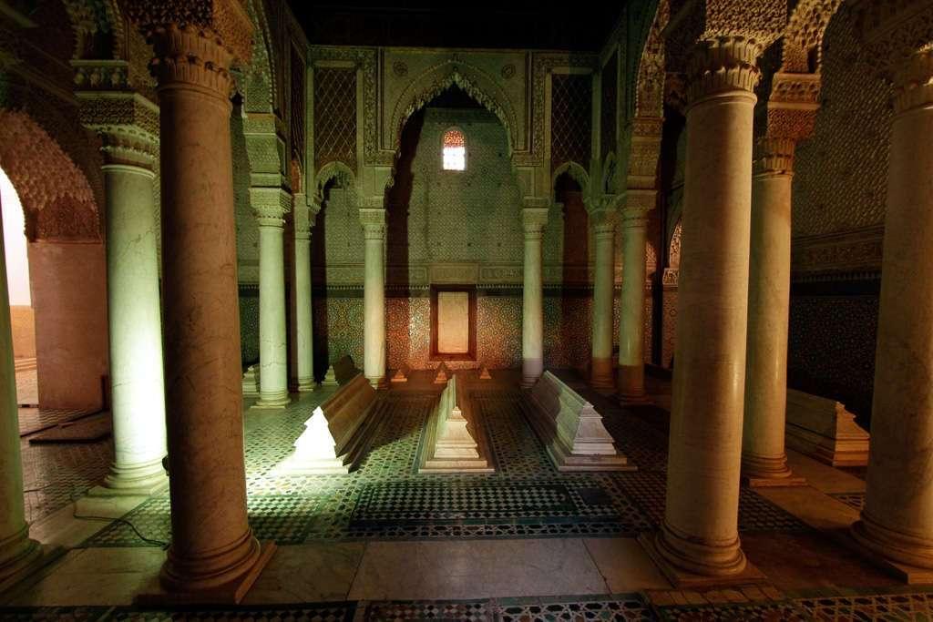 Sala de las Doce Columnas en las Tumbas Saadíes
