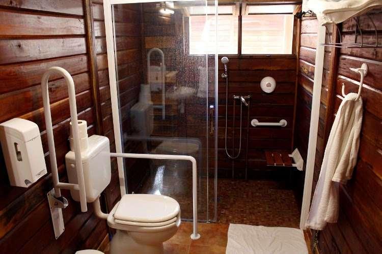 Cuarto de baño de la cabaña