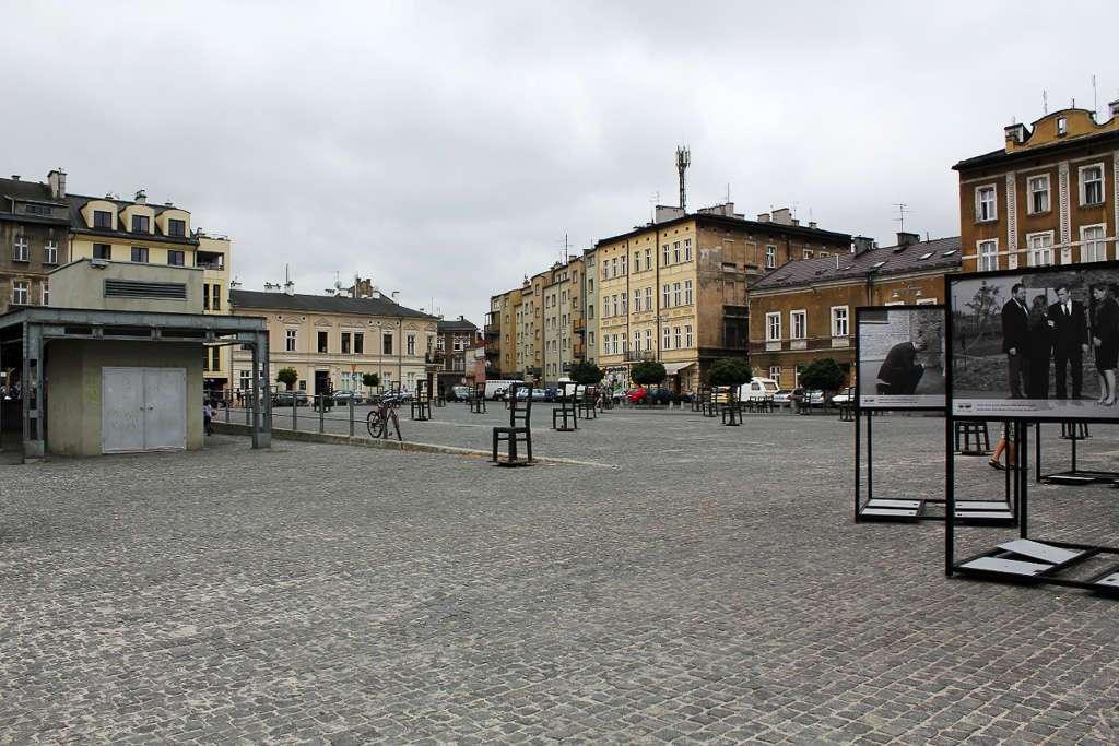 Plaza de los héroes del gueto judío de Cracovia