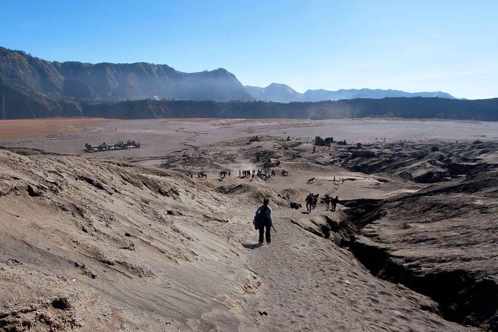 Bajando la ladera del Monte Bromo