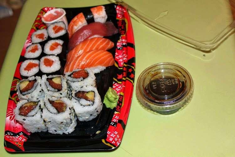 Sushi take-away de la parada de metro de La Défense