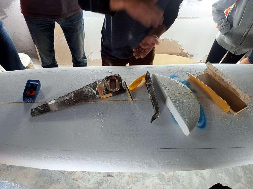 El taller de Cormoran Surfboard