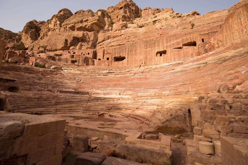 El Teatro de Petra desde el mirador