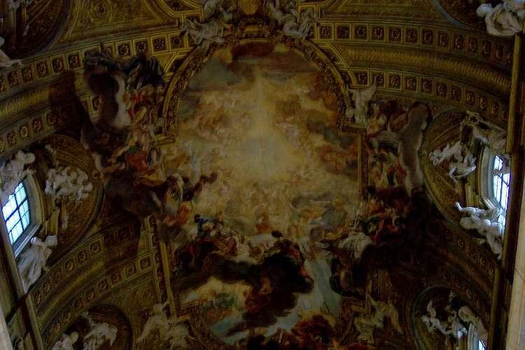 Detalle del techo de Il Gesù