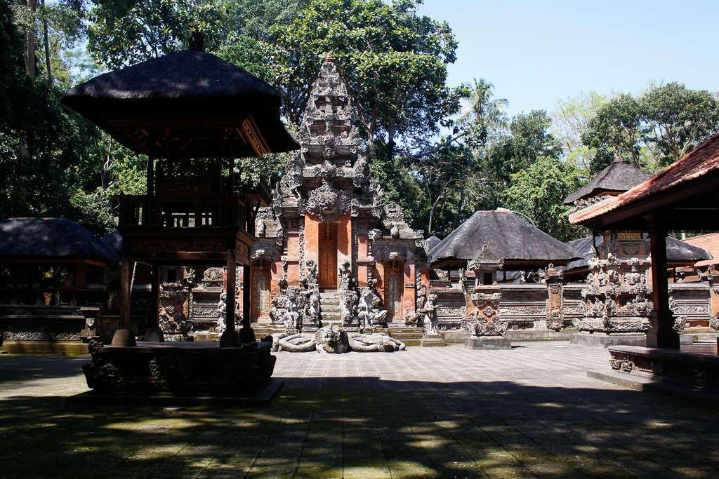 Un templo en el Monkey Forest