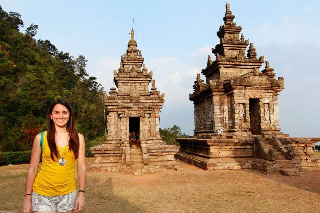 Unos templos de Gedong Songo