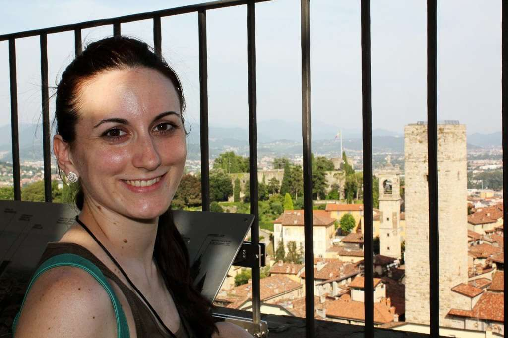 La Torre Gombito vista desde el Campanone (Bergamo)