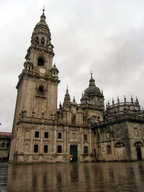 Parte trasera de la catedral de Santiago de Compostela