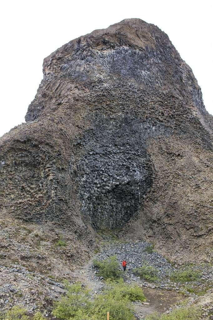 Tröllið, una de las formaciones más interesantes en Hljóðaklettar