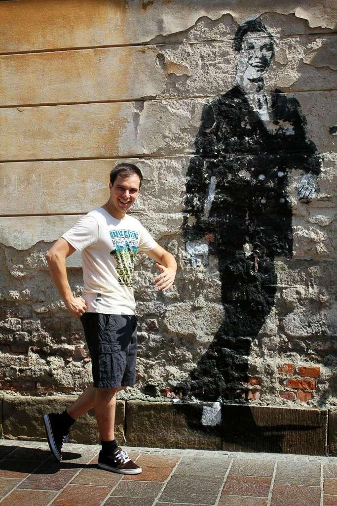Graffite del Trololo en Cracovia