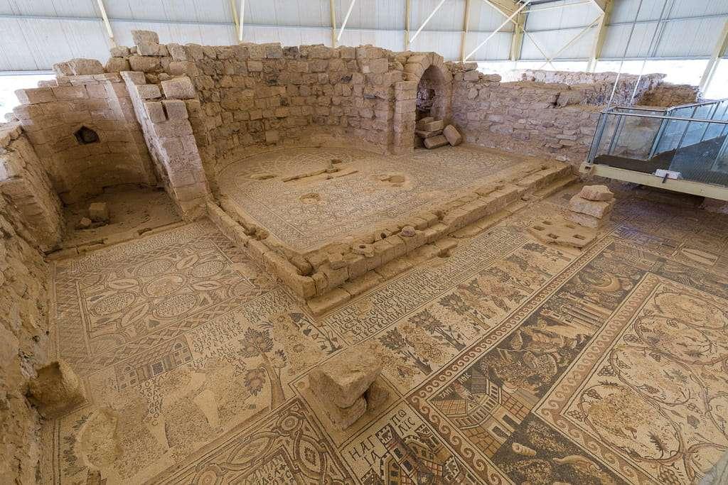 Detalle de los mosaicos de Umm ar-Rasas, Jordania