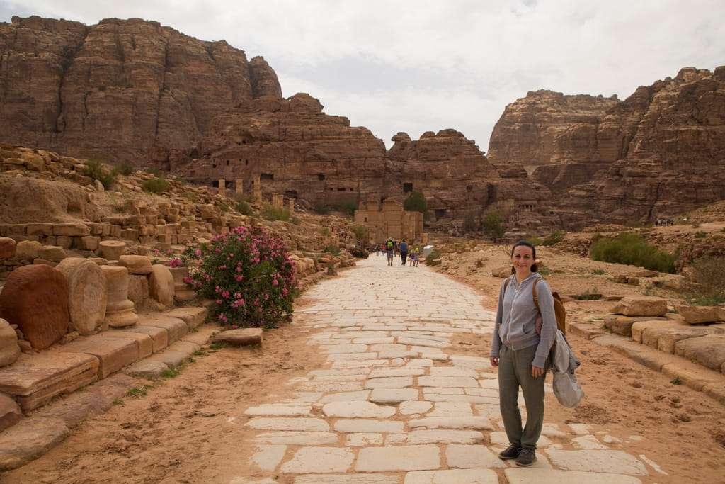 Via columnata de Petra, Jordania