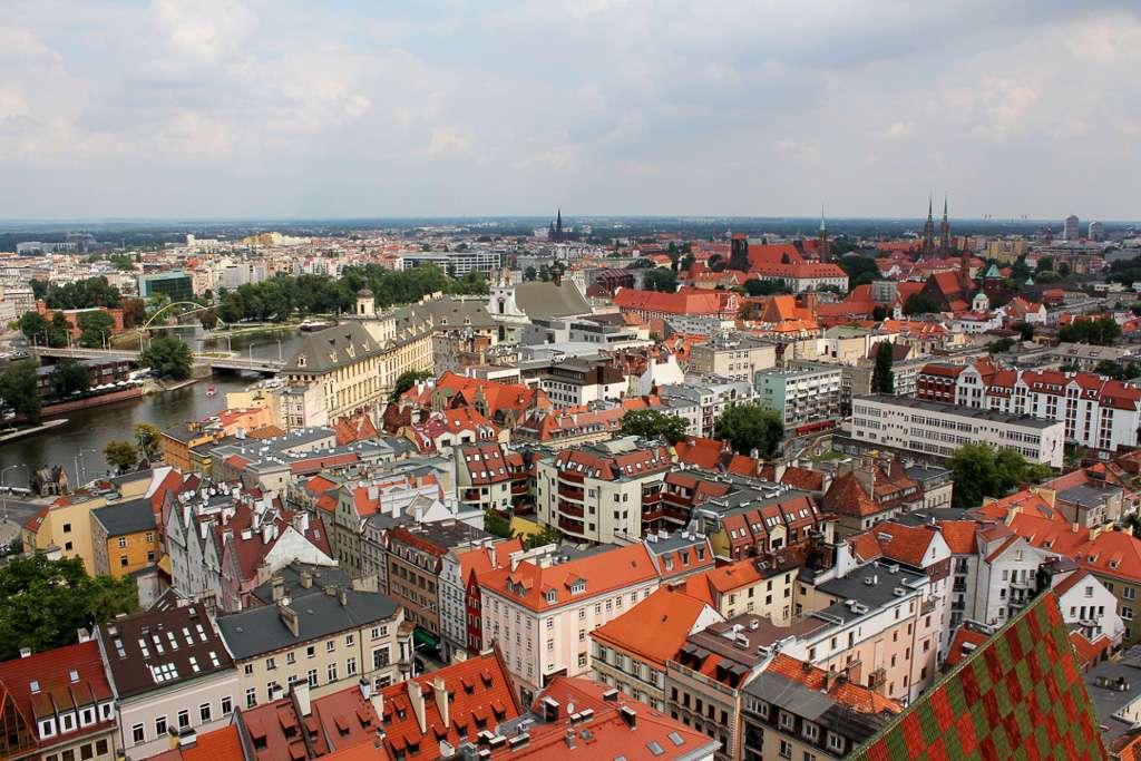 Vista desde lo alto de la Iglesia de Santa Isabel (Wroclaw)