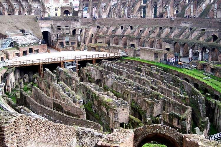 Vista general del interior del Coliseo