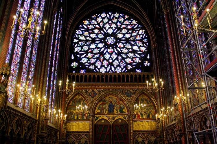 Piso superior de la Santa Capilla (Sainte-Chapelle)