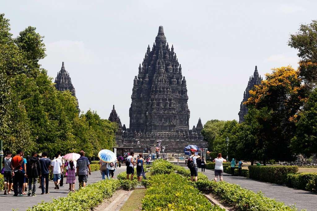 Vista general de Prambanan