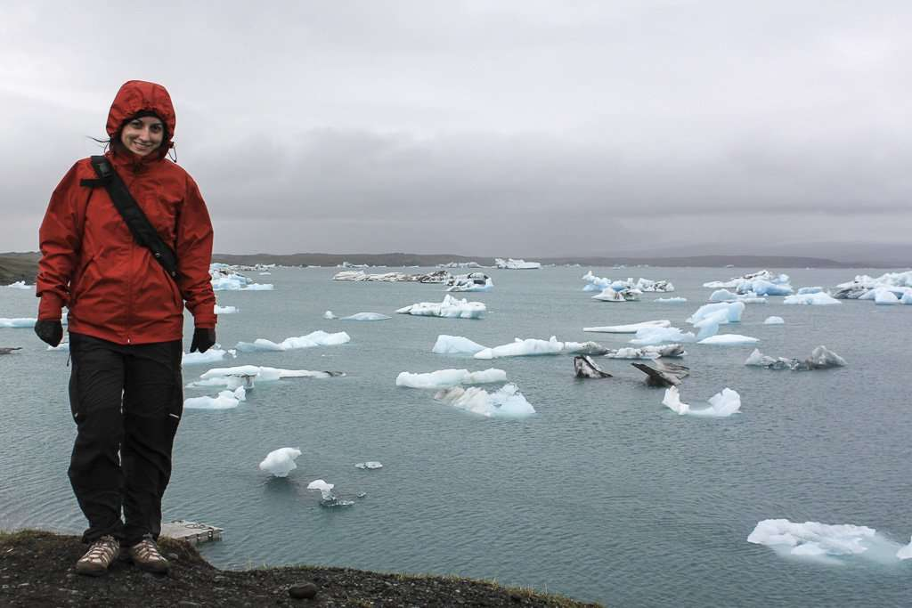 Vista de los icebergs desde lo alto