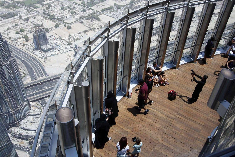 Vista desde arribe dela terraza del Burj Khalifa