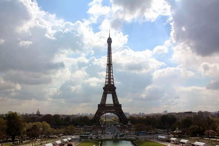 Vista de la Torre Eiffel desde Trocadero