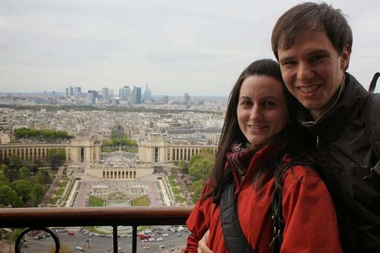 Vista de Trocadero desde el tercer piso de la Torre Eiffel