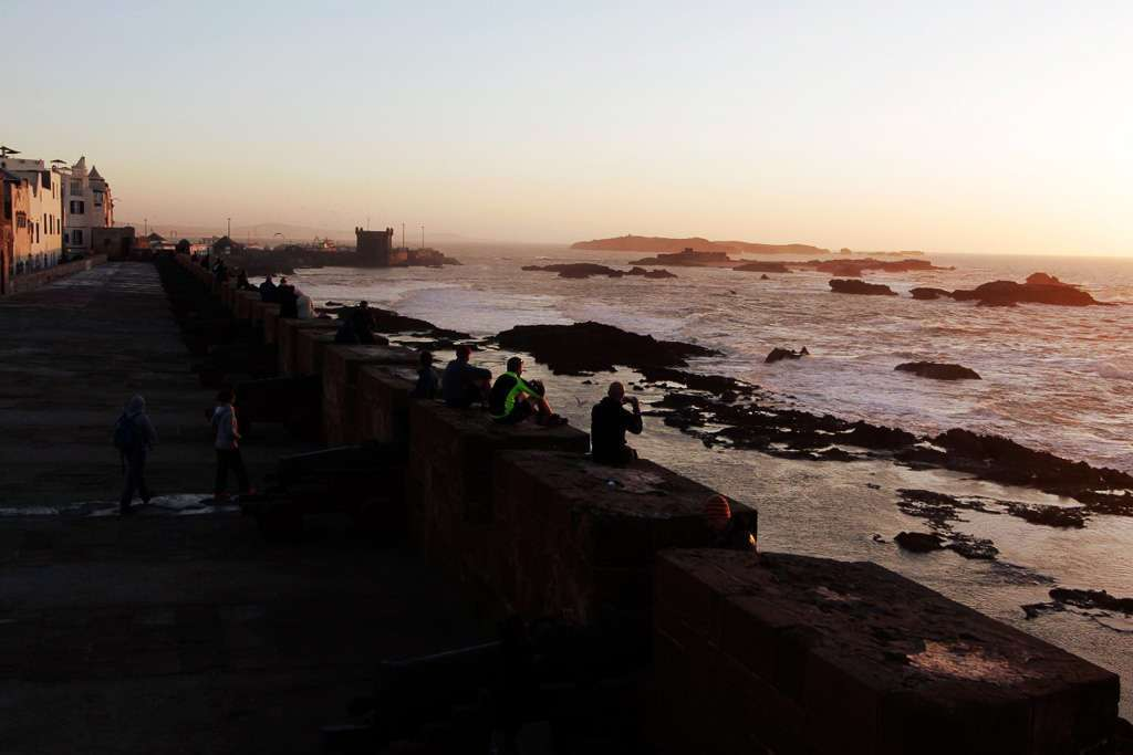 Atardecer en Essaouira desde la Skala de la kasbah