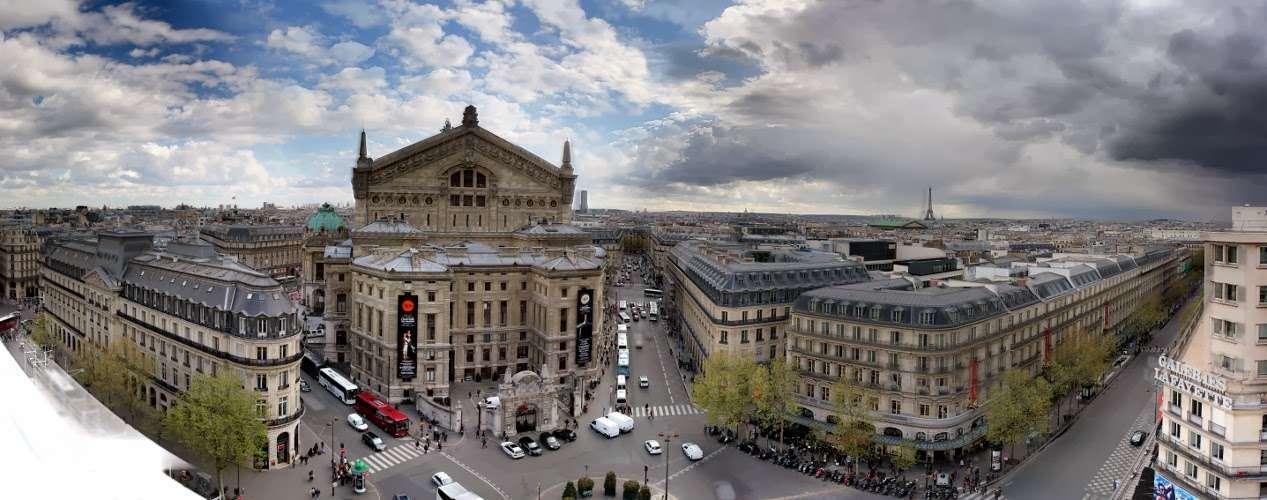 Vista desde la azotea de las Galerías Lafayette