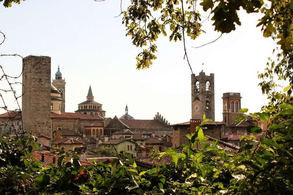 Panorámica de Bergamo, localidad cerca de Milán