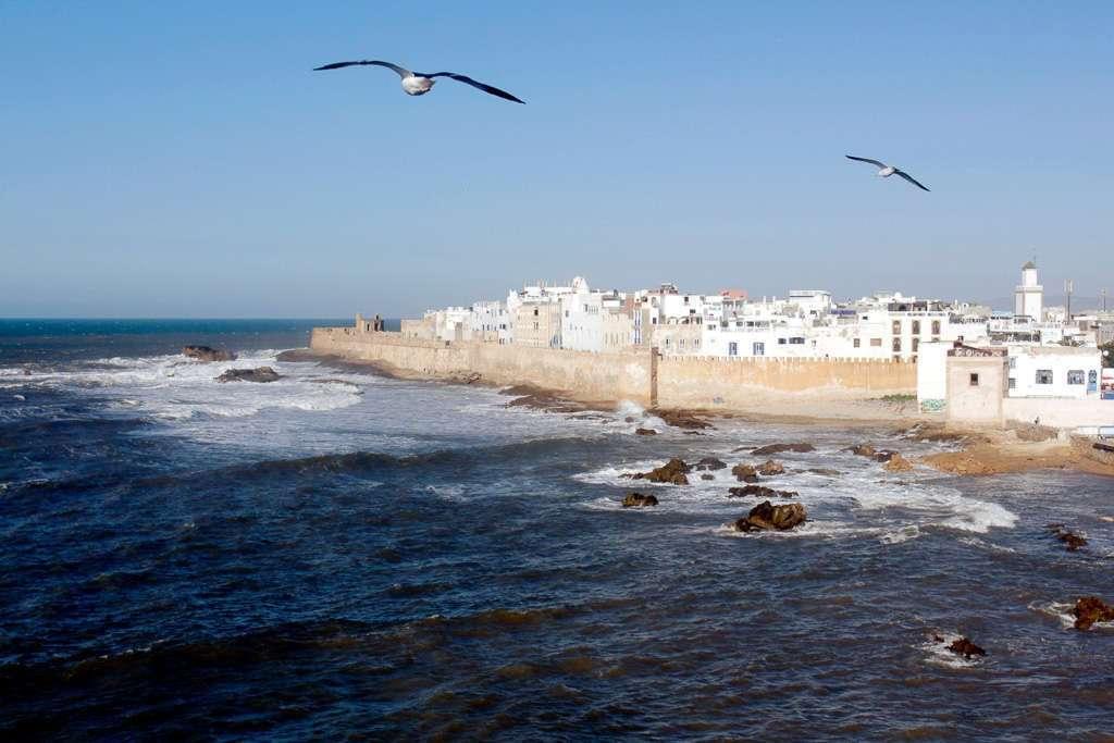 Vistas de Essaouira desde la murallas de la Skala du Port