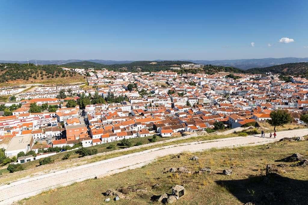 Vistas desde lo alto del castillo de Aracena