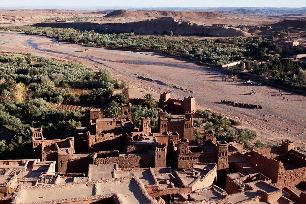 Vistas desde lo alto de la Kasbah Ait Ben Haddou