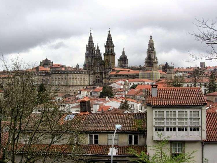 Vistas desde el Parque de la Alameda (Santiago de Compostela)