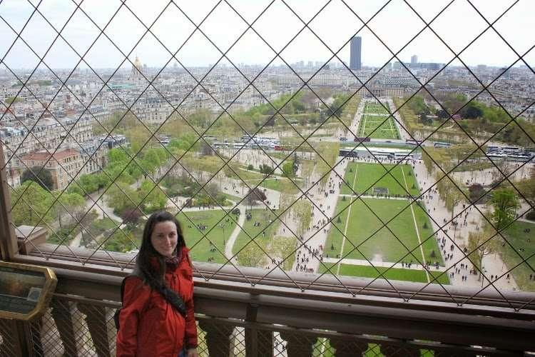 Vistas del segundo piso de la Torre Eiffel
