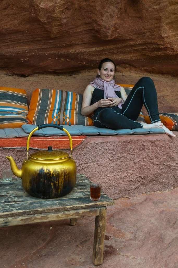 Té en Wadi Rum Starlight Camp