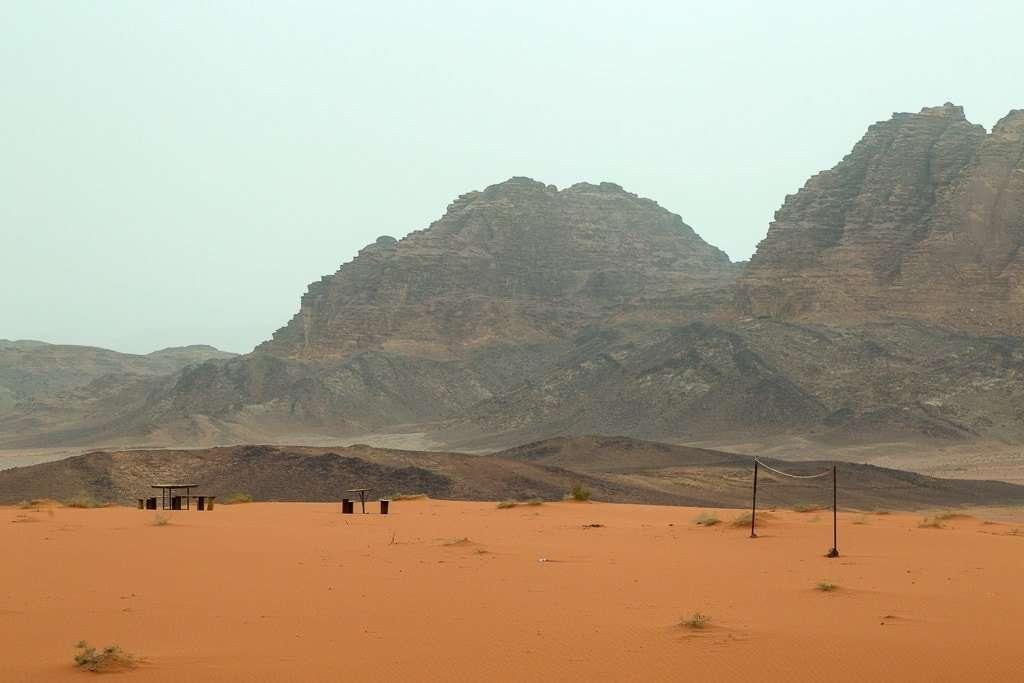 Paisajes desde el Wadi Rum Starlight Camp, Jordania