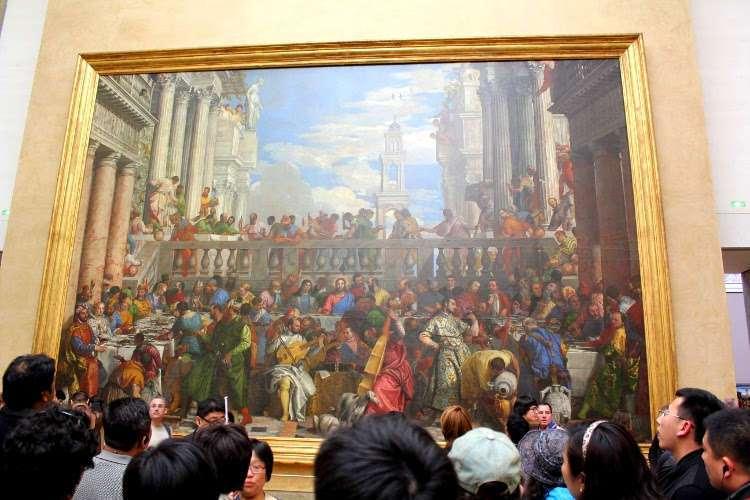 """Bodas de Caná"" del Veronés (El Louvre)"
