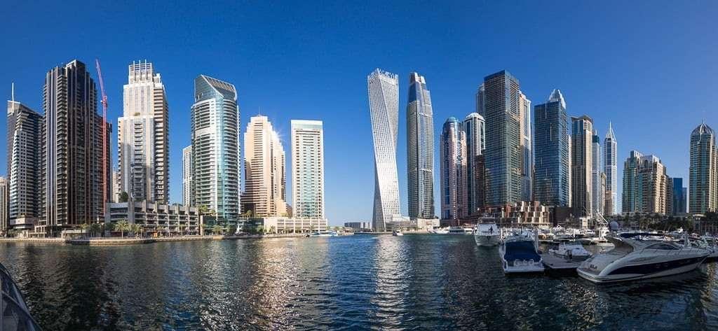 Panorámica del Dubai Marina