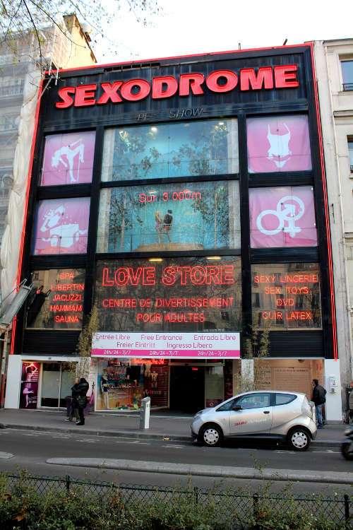 Sex shop en el Boulevard de Clichy