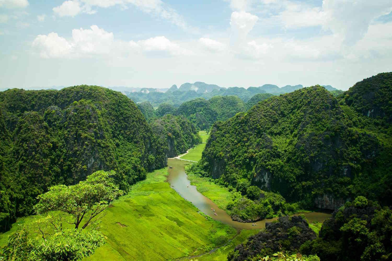 Panorámica de Tam Coc, Vietnam