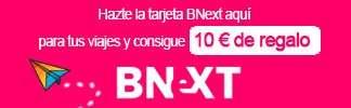 BNext - Hazte la tarjeta BNext aquí para tus viajes y consigue 10€ de regalo
