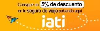 IATI - Consigue un 5% de descuento en tu seguro de viaje pulsando aquí