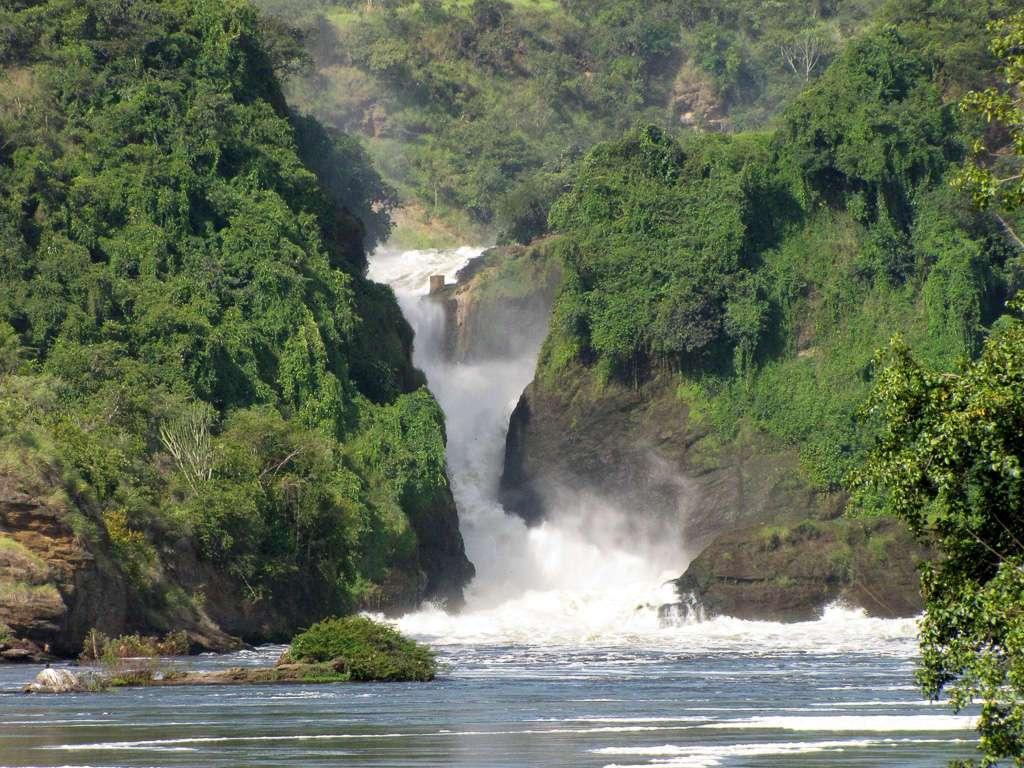 Catarata Murchison en el PN Murchison Falls, Uganda