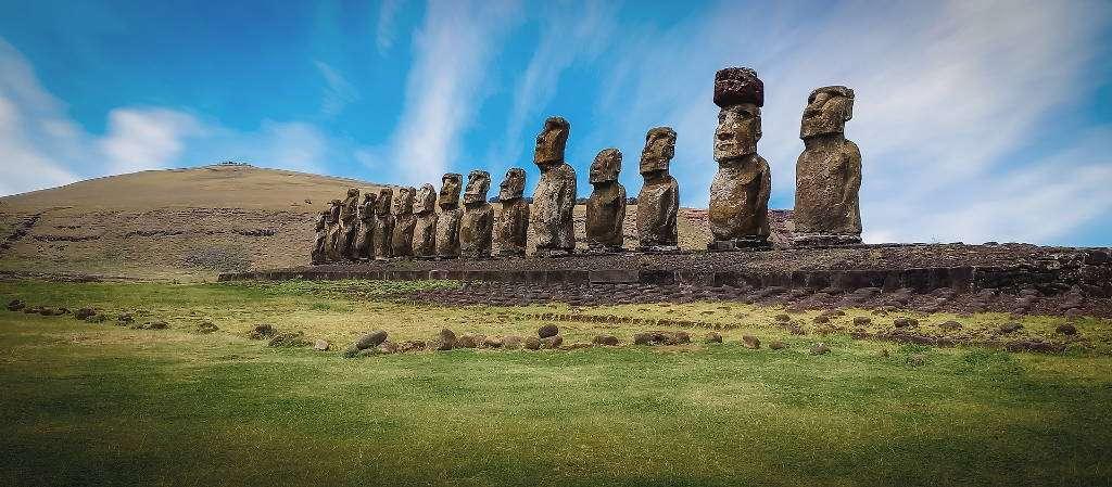 Ahu Tongariki, isla de Pascua, Chile