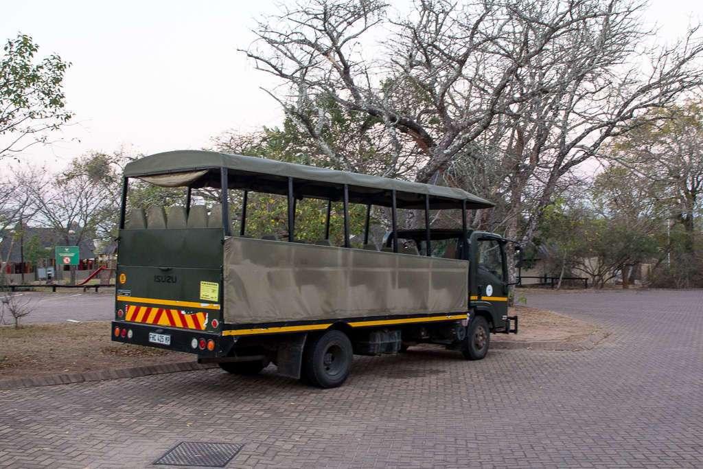 Camión safaris guiados SANParks, Kruger, Sudáfrica