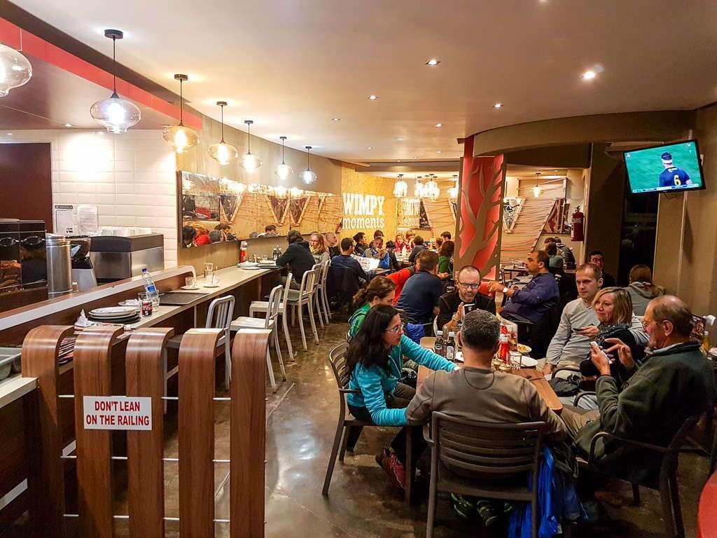 Restaurante comida rápida del campamento Pretoriuskop, Kruger, Sudáfrica