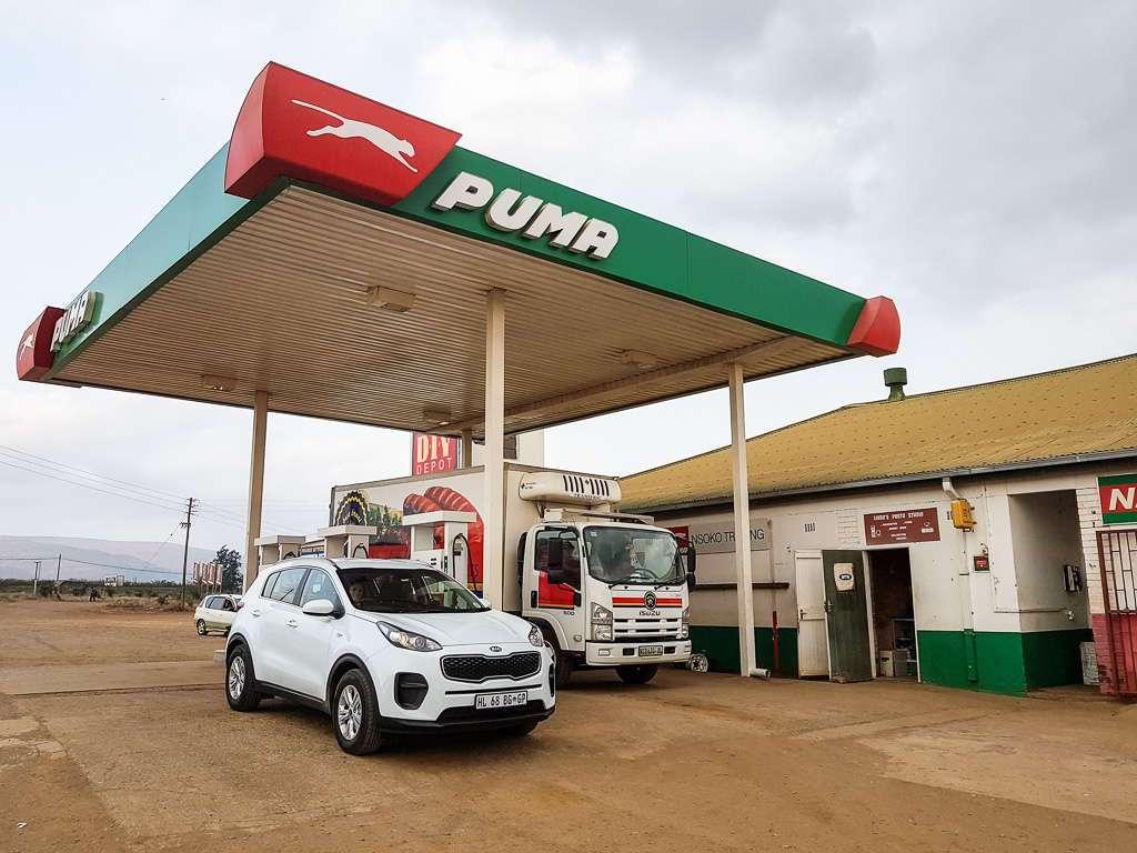 Gasolinera en Suazilandia (Esuatini)
